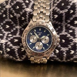 Brand New Fossil Blue Stainless Steel Men's Watch